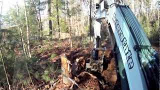 How To: Dig Up Stumps With An Excavator