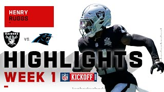 Henry Ruggs Impresses in Rookie Debut | NFL 2020 Highlights
