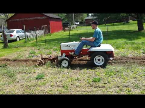 Gravely 424 with rotary plow