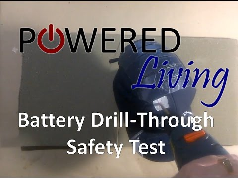 Solar Powered Charging Hat Safety Test: Battery Drill-Through