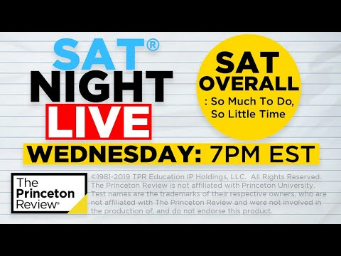 SAT Night Live - SAT Prep: Time Management Tips | The Princeton Review