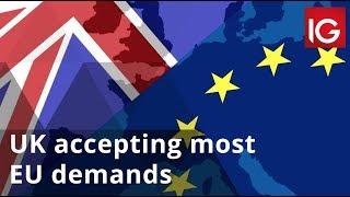 UK accepting most EU demands ahead of Brexit summit