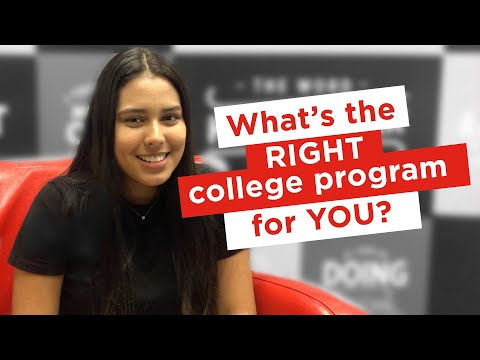 How to choose a college program