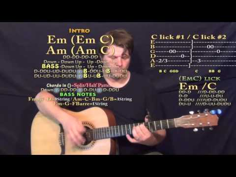 Shameless (The Weeknd) Guitar Lesson Chord Chart - Capo 4th