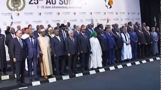 السيد الرئيس اثناء مشاركته في مؤتمر قمة الاتحاد الإفريقي في دورته الخامسة والعشرين