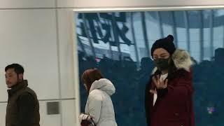 2017.11.28新千歳空港THE CRISNOWⅣで来札、とびっきりの笑顔めんこいべさ.