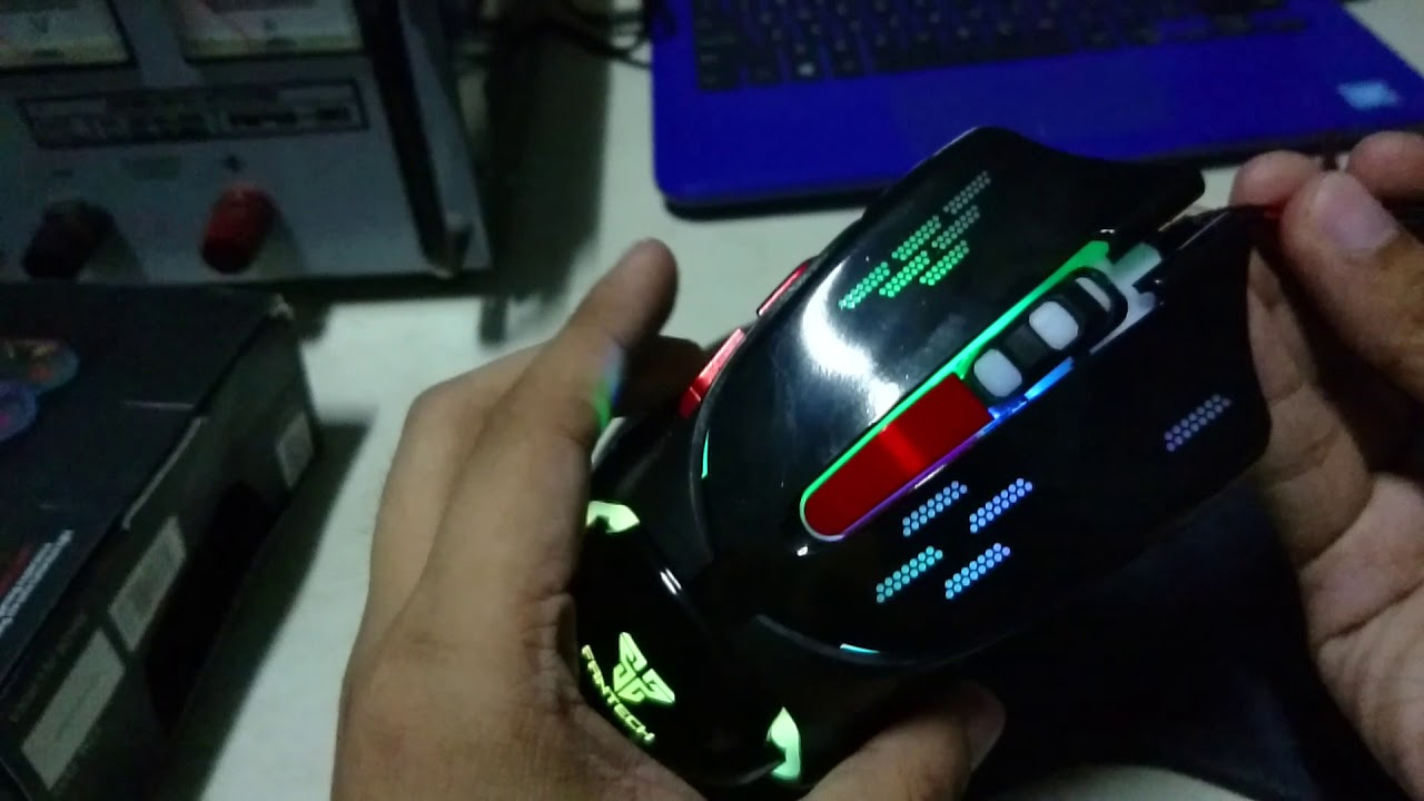 Fantech Khan V1 Led Gaming Mouse Unboxing Review And What It Looks Pro Rhasta G10 Chroma 4 Button Like In The Dark