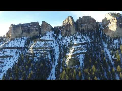 Remote rock arch in Northern Wyoming