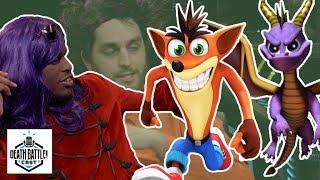 Crash vs Spyro Sneak Peak! | DEATH BATTLE Cast