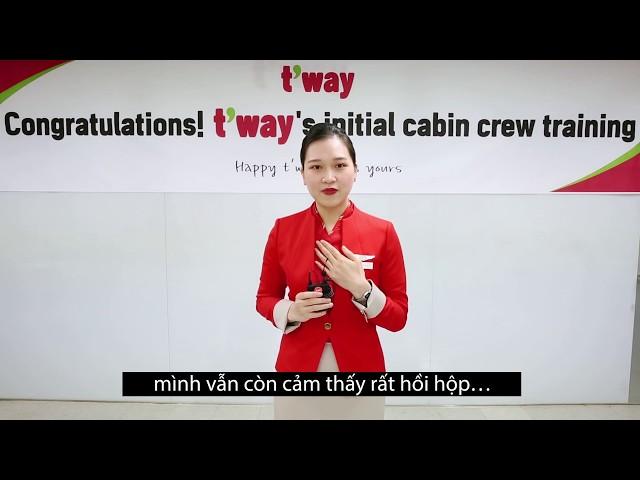 Chúc mừng bạn Linh học viên Careerfinder trúng tuyển tiếp viên Hãng hàng không t'way