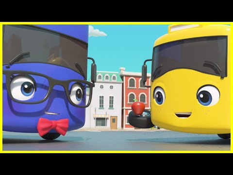 Buster's First Day At School | Go Buster | Baby Cartoons | Kids Videos | ABCs and 123s
