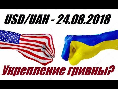 USD/UAH - 25.08.2018 / Укрепление Гривны?