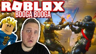 THE BIG FIGHT-BOWS AND CROSSBOWS! :: Booga Booga Ep. 5-Dansk Roblox
