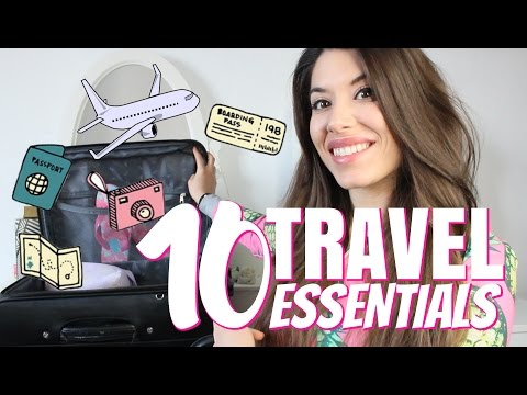 10 TRAVEL ESSENTIALS || COSA PORTO IN VALIGIA??? 😰✈️🇬🇧 | Adriana Spink