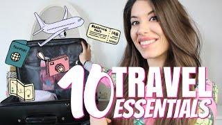 10 TRAVEL ESSENTIALS || COSA PORTO IN VALIGIA??? 😰✈️🇬🇧 | Adriana Spink