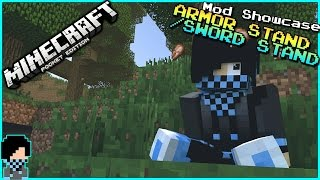 [0.15.2] Minecraft PE - BASK ON YOUR AMAZING ITEMS!! - Armor Stand/Sword Pedestal Mod Showcase