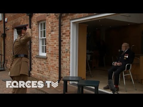 Tom Moore Becomes An Honorary Colonel... But The Army Has ONE MORE Surprise For Him! | Forces TV