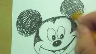 How to Draw Mickey Mouse, Donald Duck, Goofy, & Olaf