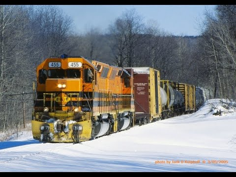 B&P SD45's in the snow, at Riker, Rasselas, Sykesville, Cleo, PA.