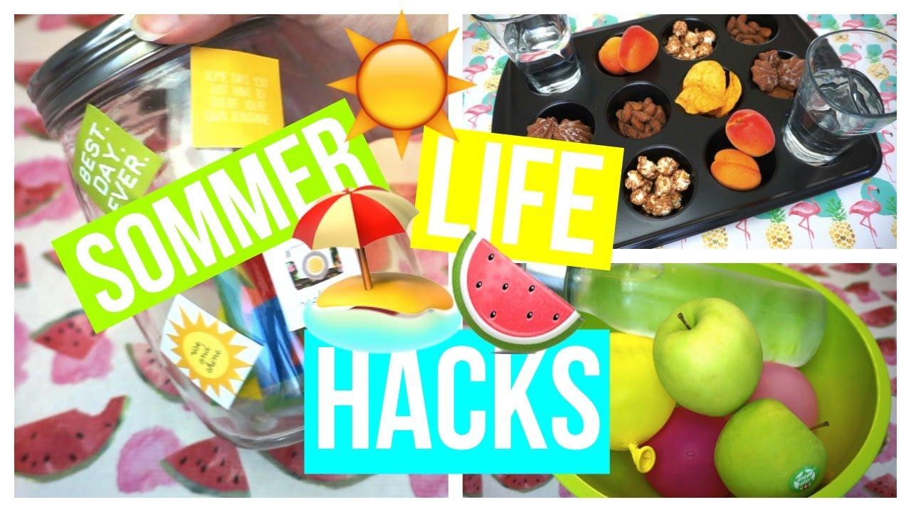 Life Hacks Für Den Sommer