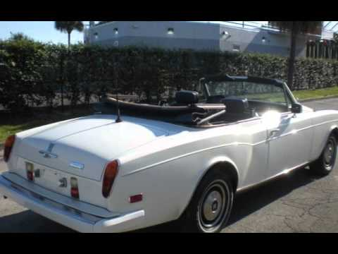 1985 rolls royce corniche for sale in delray beach fl youtube. Black Bedroom Furniture Sets. Home Design Ideas