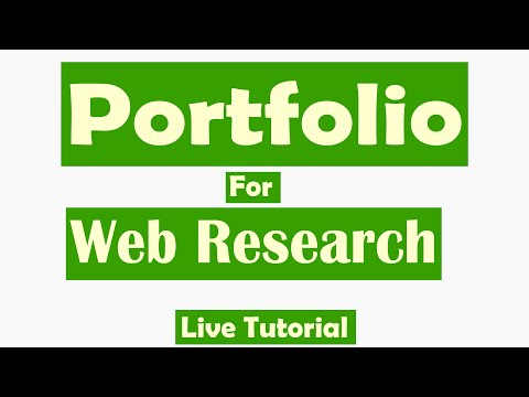 How to make Portfolio for Web Research Job as a New Freelancer  Upwork Peopleperhour FarooqTv