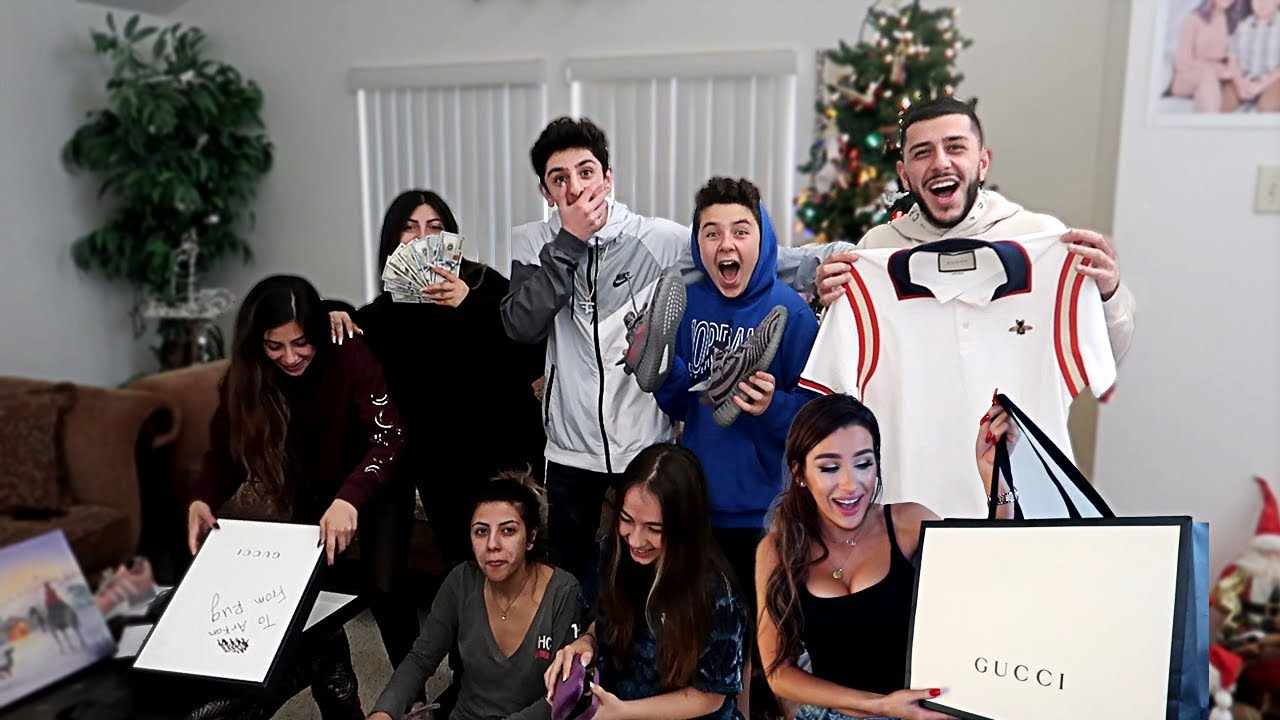 Insane Christmas Gifts Opening W Molly And My Family