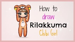 ❤ Drawing Tutorial - How to Draw Rilakkuma Chibi Girl ❤