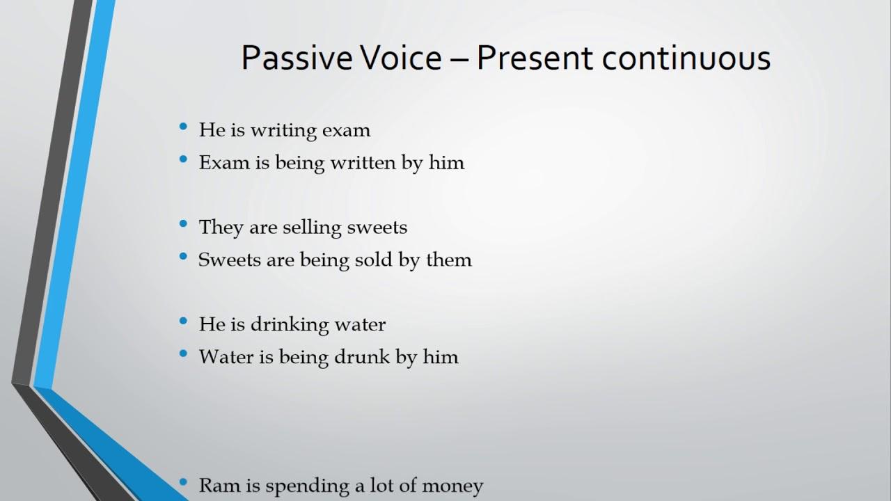 02 Present Continuous Passive Voice - Learn English Via Tamil