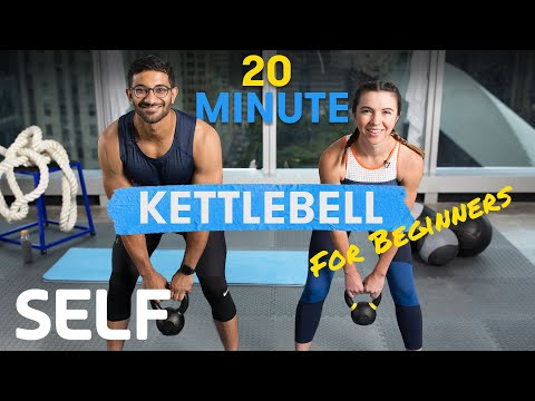 20 Minute Kettlebell Workout for Beginners With Warm-Up and Cool-Down | Sweat With SELF