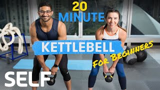 20 Minute Kettlebell Workout for Beginners - With Warm-Up and Cool-Down   Sweat With SELF screenshot 4