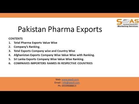 Pakistan Pharma Export Data Part 3/3 - YouTube