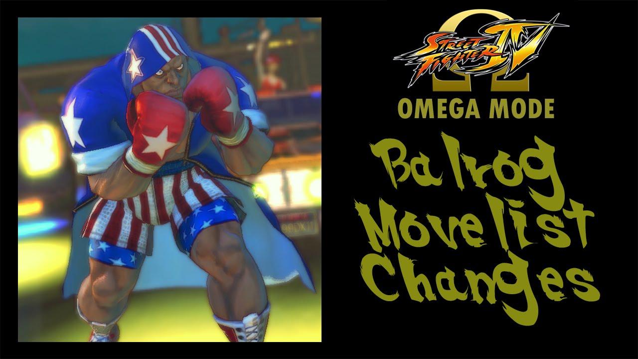 88707c7b6 USFIV: Omega Mode - Balrog Move List Changes - YouTube