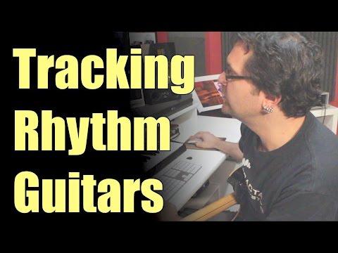 Tracking Hard Rock Rhythm Guitars For Next Album