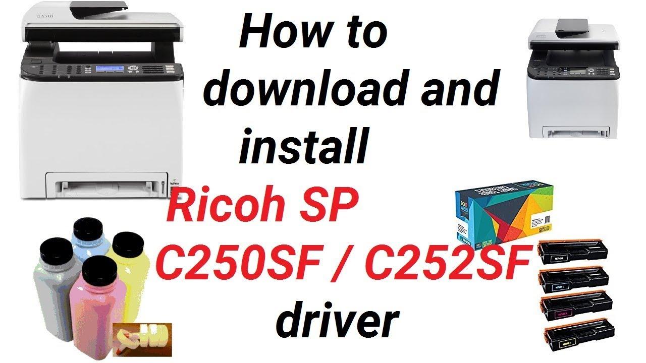 Ricoh SP C252SF Printer PCL 5c Windows 7