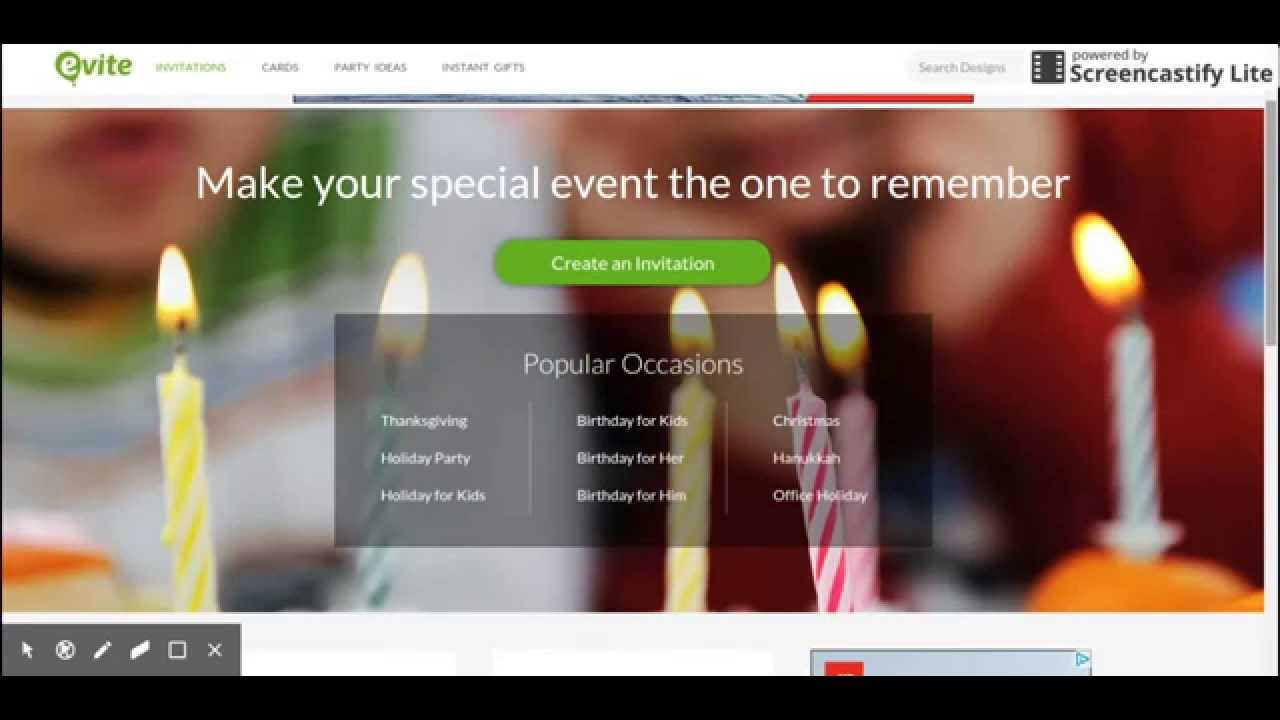 how to use evite online invitation website youtube