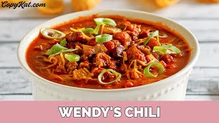 Wendy's Chili By Copykat.com