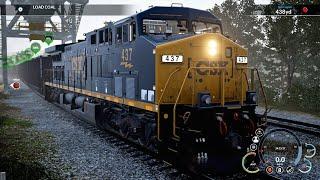 Train Sim World || CSX Heavy Haul || Ultra Realistic Graphics Gameplay || Powering Up America
