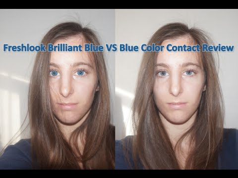 Blue Contacts Review - Freshlook Brilliant Blue Versus Blue Color Contacts