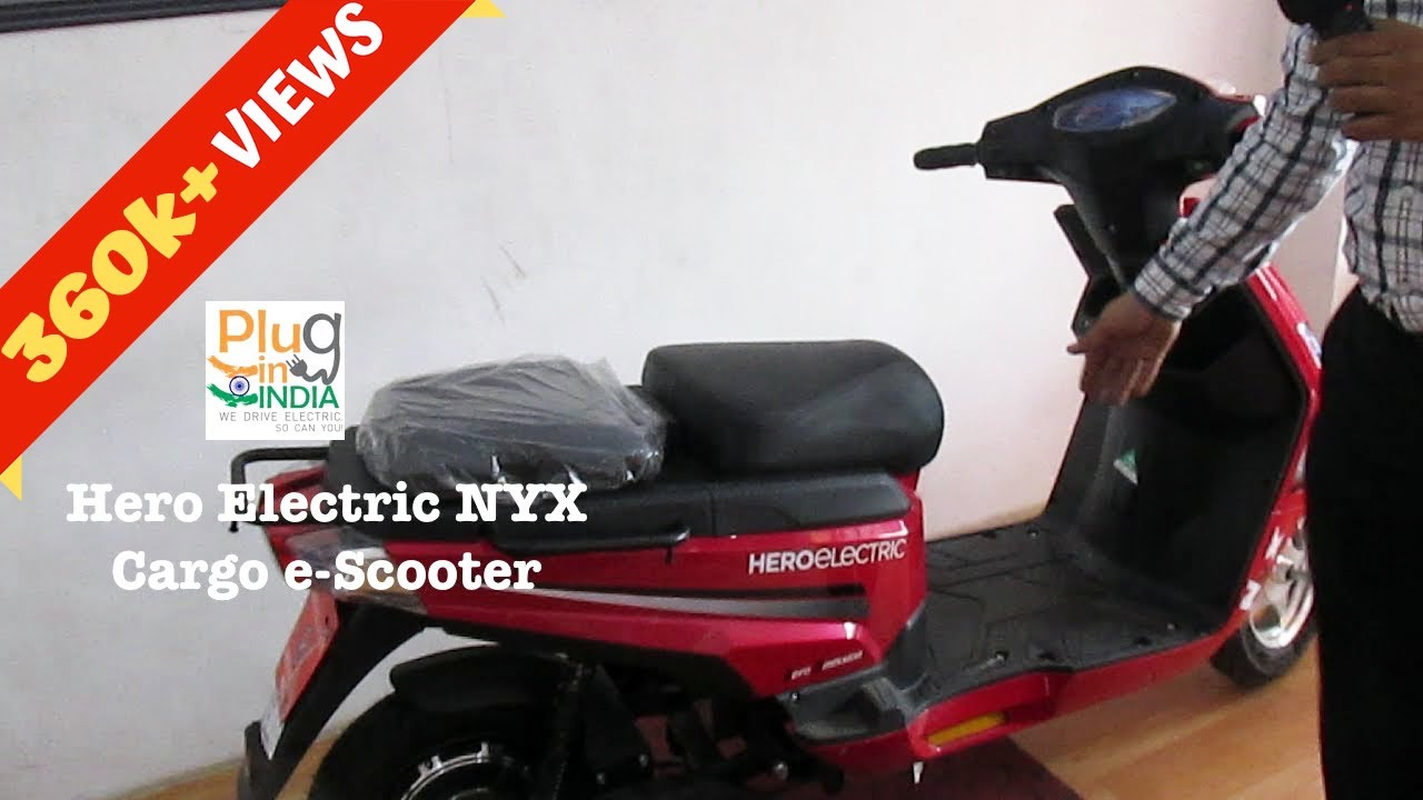 Hero Electric NYX : Cargo e-Scooter on