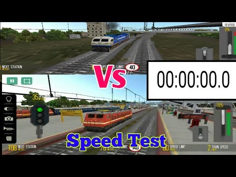 WAP-4 Vs WDP-4D Speed Test in Indian Train Sim.