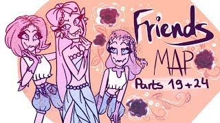 F R I E N D S  MAP (Marshmello feat. Anne-Marie) ~ Parts 19 & 24 | Animation