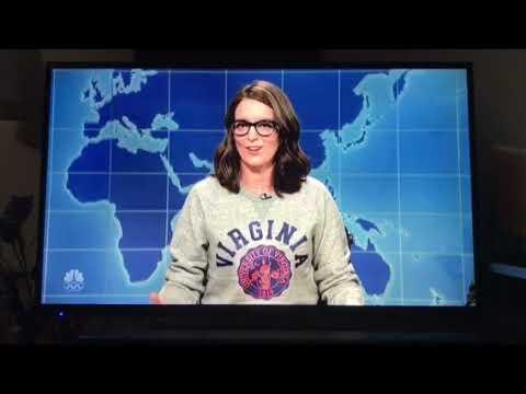 """Tina Fey """"sheet caking"""" on Weekend Update"""