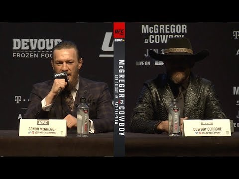 UFC 246: МакГрегор Vs Ковбой - Пресс-конференция