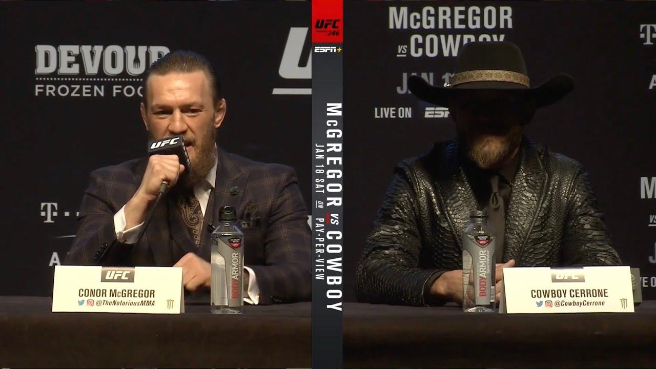 Пресс-конференция: Макгрегор - Ковбой (UFC 246)
