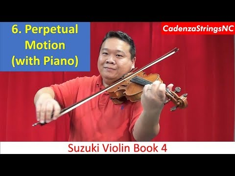 Perpetual Motion (with Piano Accompaniment) | Suzuki Violin Book 4