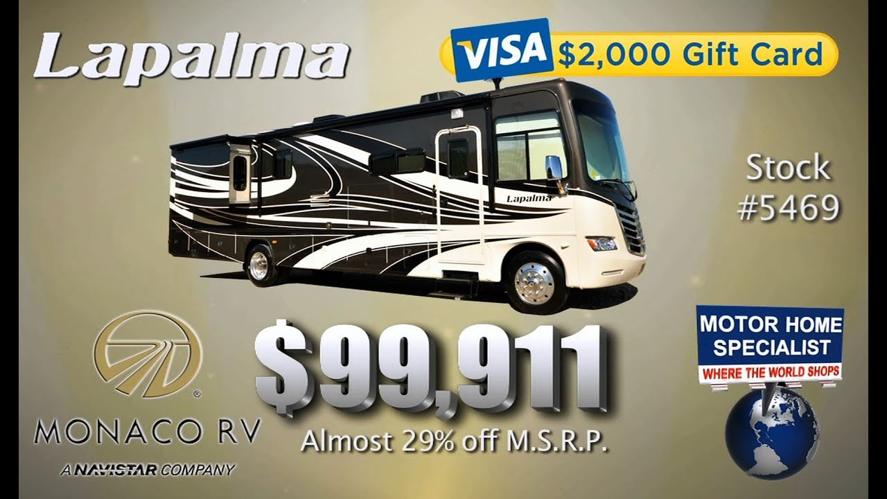 New monaco lapalma 99 911 2012 motor home specialist for Motor home specialist reviews