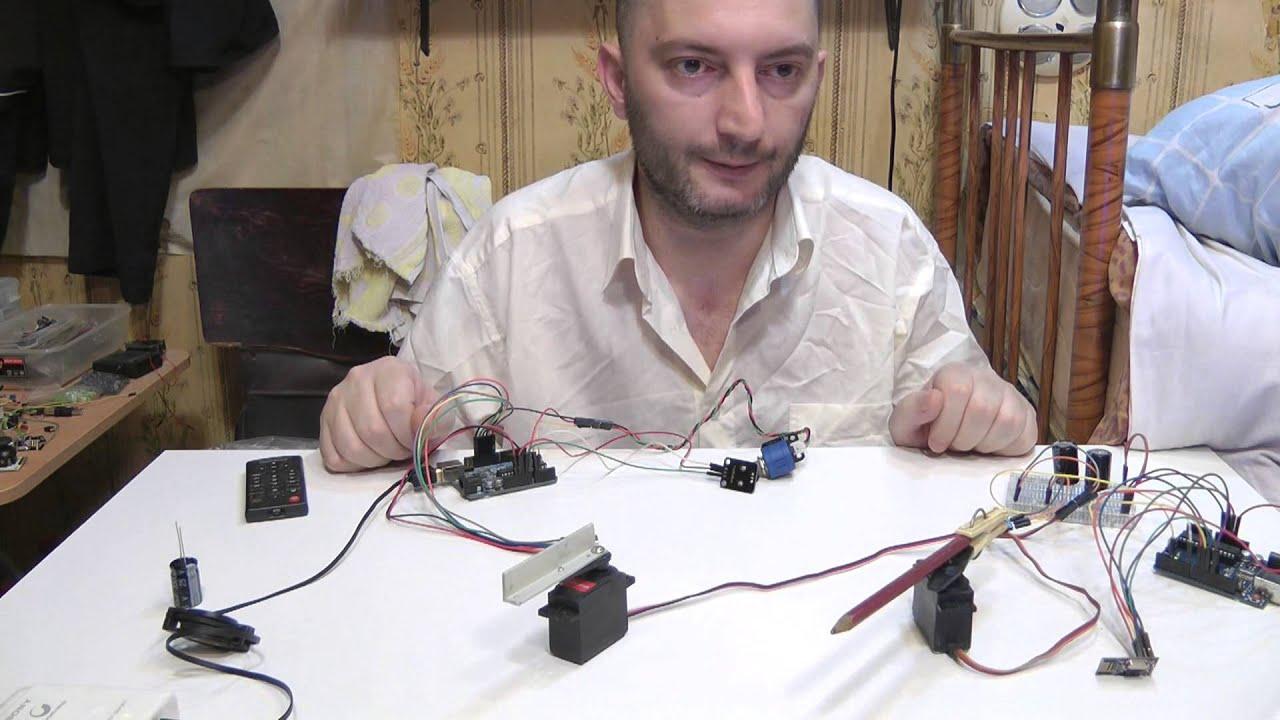 v.01 Arduino NRF24L01+ 2 Servo radio <b>potentiometer</b> Переменный ...