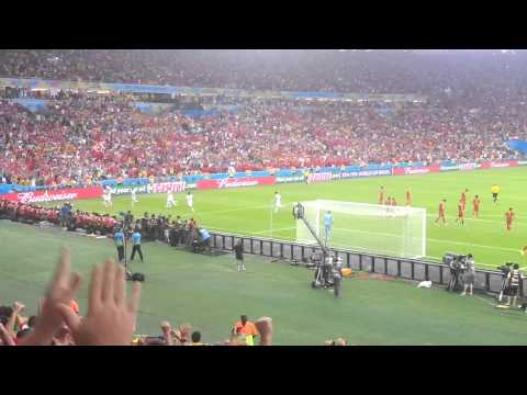 Chile vs Spain WC 2014- Stadium reaction to Charles Aránguiz goal (2-0)