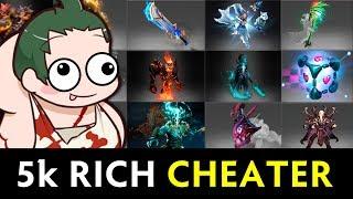Rich 5000 MMR cheater — beware of scripts/hacks in Dota